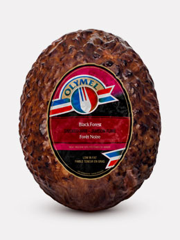 Black forest handcrafted open net smoked ham