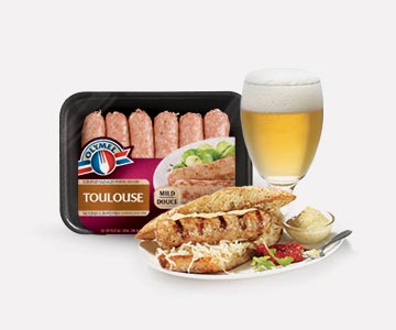 Olymel mild toulouse sausages